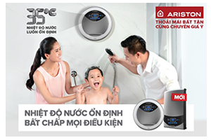 Ariston Vietnam launched Aures, the new instant water heater range