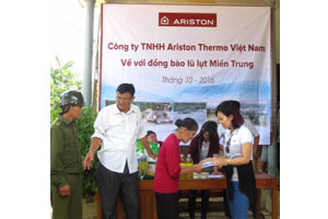 Ariston Thermo supports flood victims in Vietnam