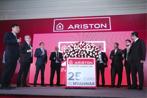 Ariston launched the new Aures water heater in Myanmar