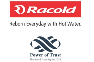 Racold awarded 'The Most Trusted Brand' 2016